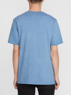 Solid Stone Short Sleeve Emblem Tee - Blue Rinse (A5211906_RNE) [B]