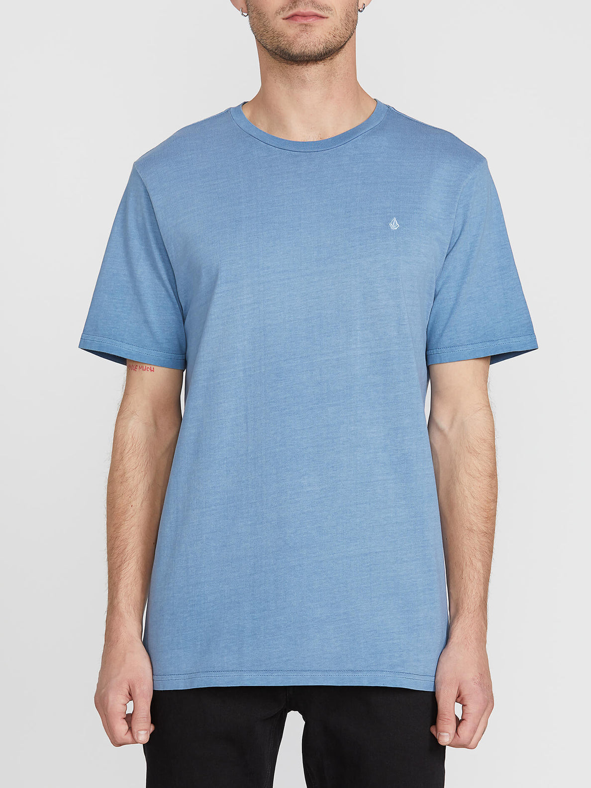 Solid Stone Short Sleeve Emblem Tee - Blue Rinse (A5211906_RNE) [F]