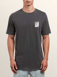 Lifer Short Sleeve Tee In Black, Front View