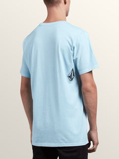 The Stranger Short Sleeve Tee In Arctic Blue, Back View