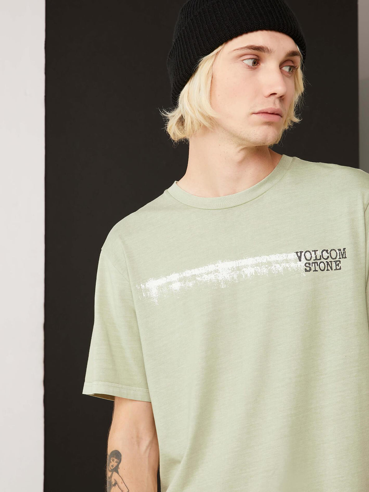 Courtesy Short Sleeve Tee In Sage, Alternate View