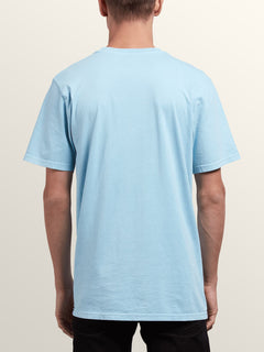 Tomb Short Sleeve Tee In Arctic Blue, Back View