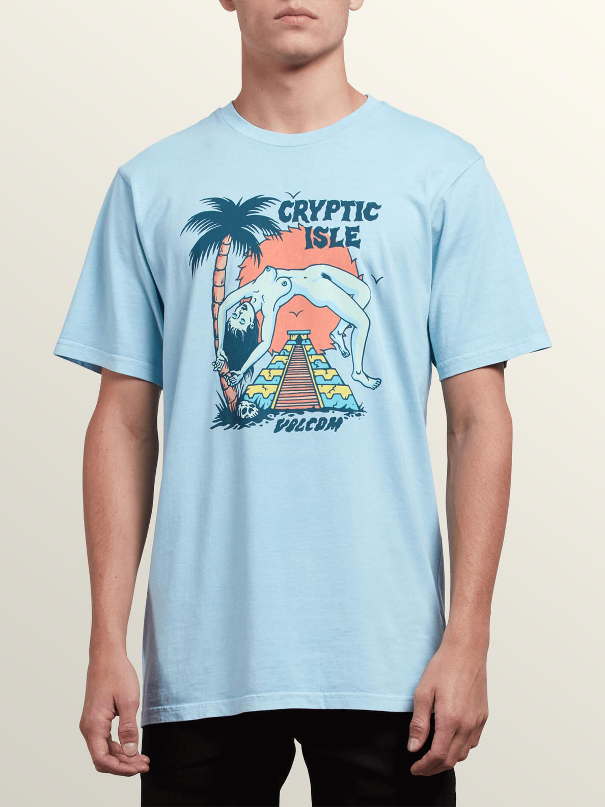 Tomb Short Sleeve Tee In Arctic Blue, Front View