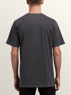 Tomb Short Sleeve Tee In Black, Back View