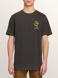 Exoterica Short Sleeve Tee In Black, Front View