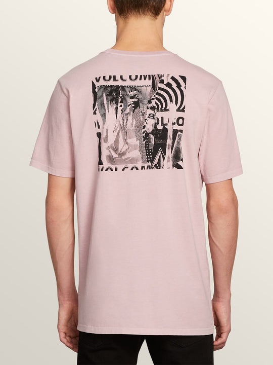 Wheat Paste Short Sleeve Tee In Pale Rider, Back View