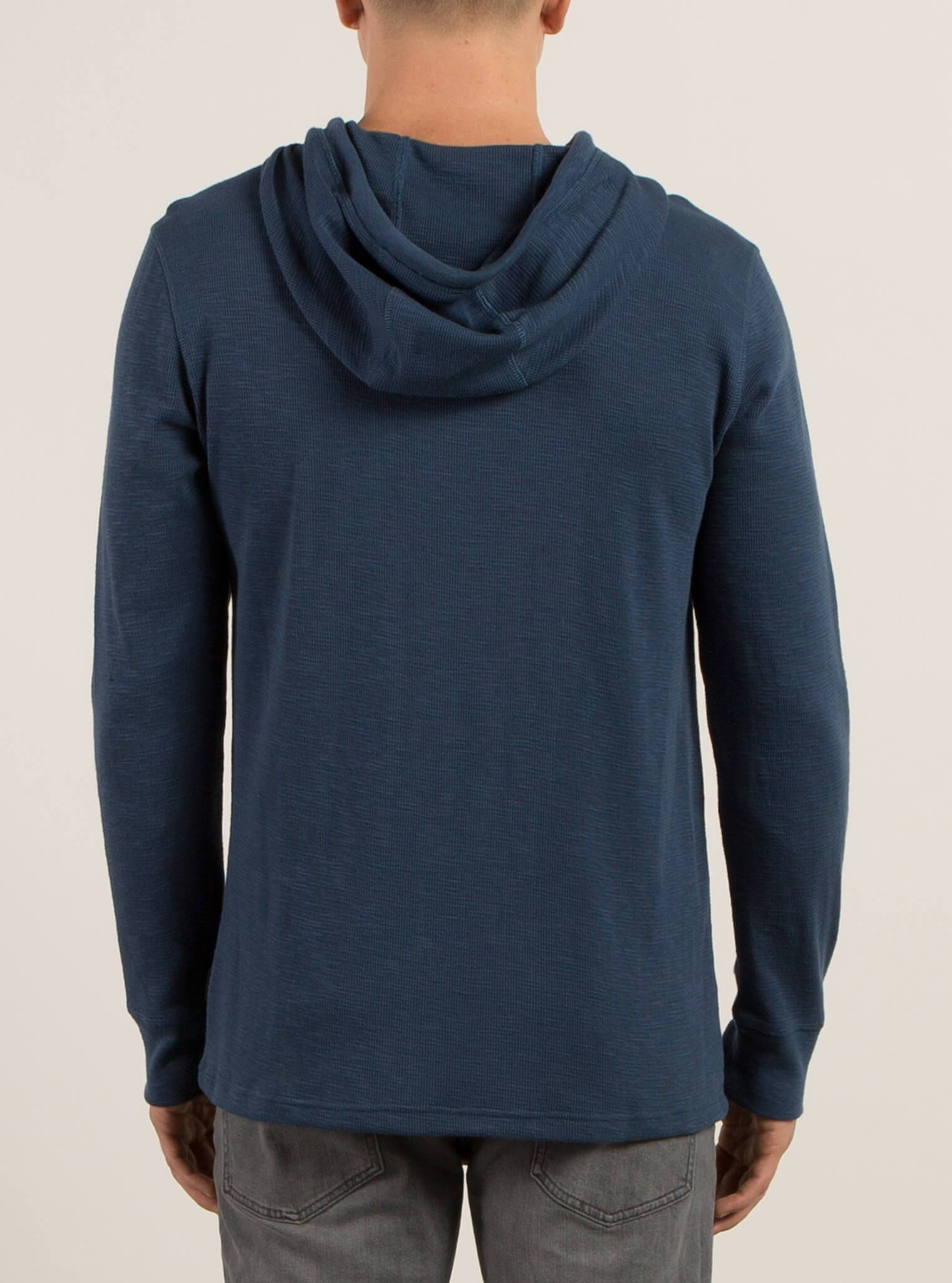Nouveau Volcom Violet Bleu Turquoise Shirt Sweat à Capuche Pull-over Henley Thermal Small S
