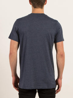 Pin Line Stone Short Sleeve Tee In Indigo, Back View