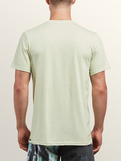 Pin Line Stone Short Sleeve Tee In Mist Green, Back View