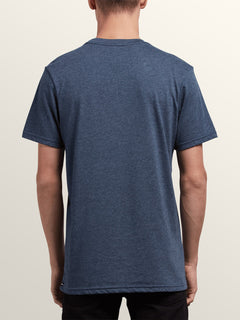 Pin Line Stone Short Sleeve Tee In Navy, Back View