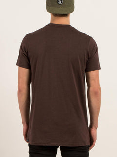 Pin Line Stone Short Sleeve Tee In Plum Heather, Back View
