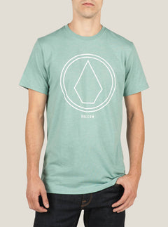 Pin Line Stone Short Sleeve Tee In Sea Blue, Front View