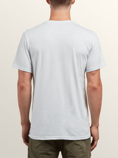 Pin Line Stone Short Sleeve Tee In White, Back View
