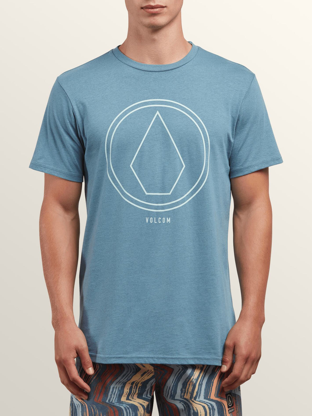 Pin Line Stone Short Sleeve Tee In Wrecked Indigo, Front View