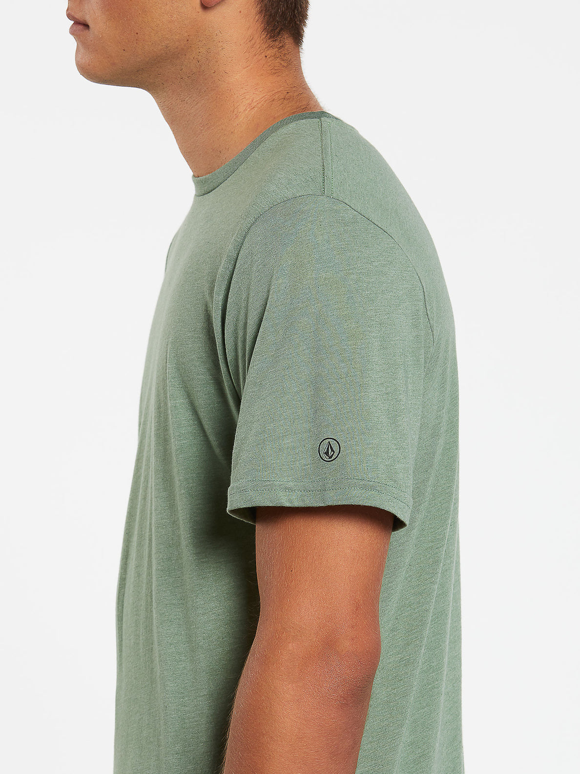 Heather Solid Short Sleeve Tee - Cactus Green (A5711705_CAC) [1]