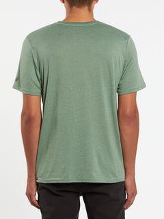 Heather Solid Short Sleeve Tee - Cactus Green (A5711705_CAC) [B]