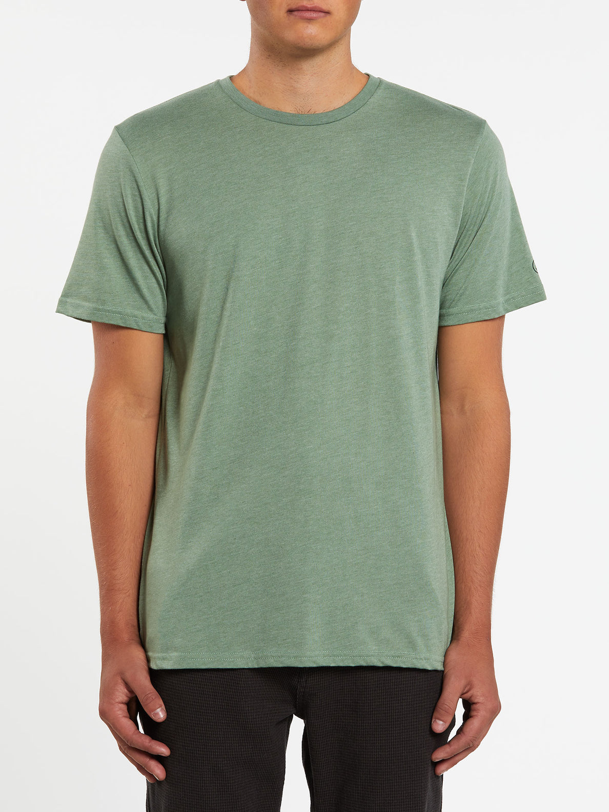 Heather Solid Short Sleeve Tee - Cactus Green (A5711705_CAC) [F]
