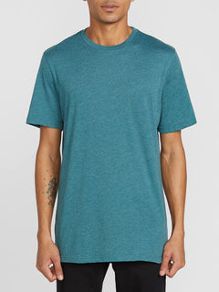 Heather Solid Short Sleeve Tee - Mediterranean (A5711705_MED) [F]