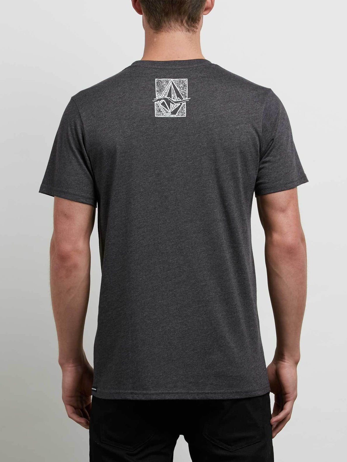 Edge Tee In Heather Black, Back View
