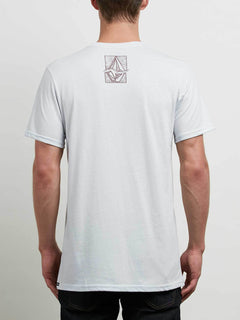 Edge Tee In White, Back View