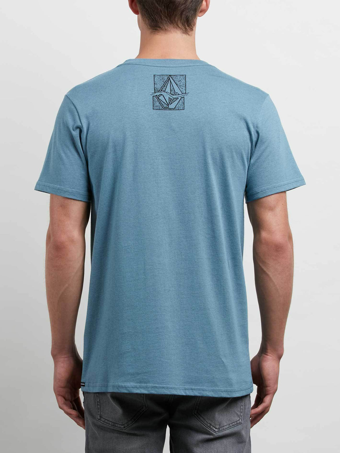 Edge Tee In Wrecked Indigo, Back View