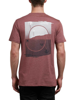 Over Ride Tee In Crimson, Back View
