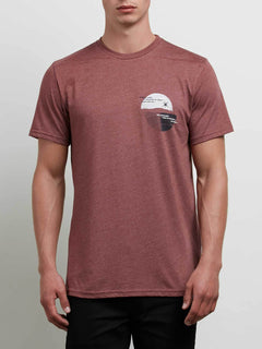 Over Ride Tee In Crimson, Front View
