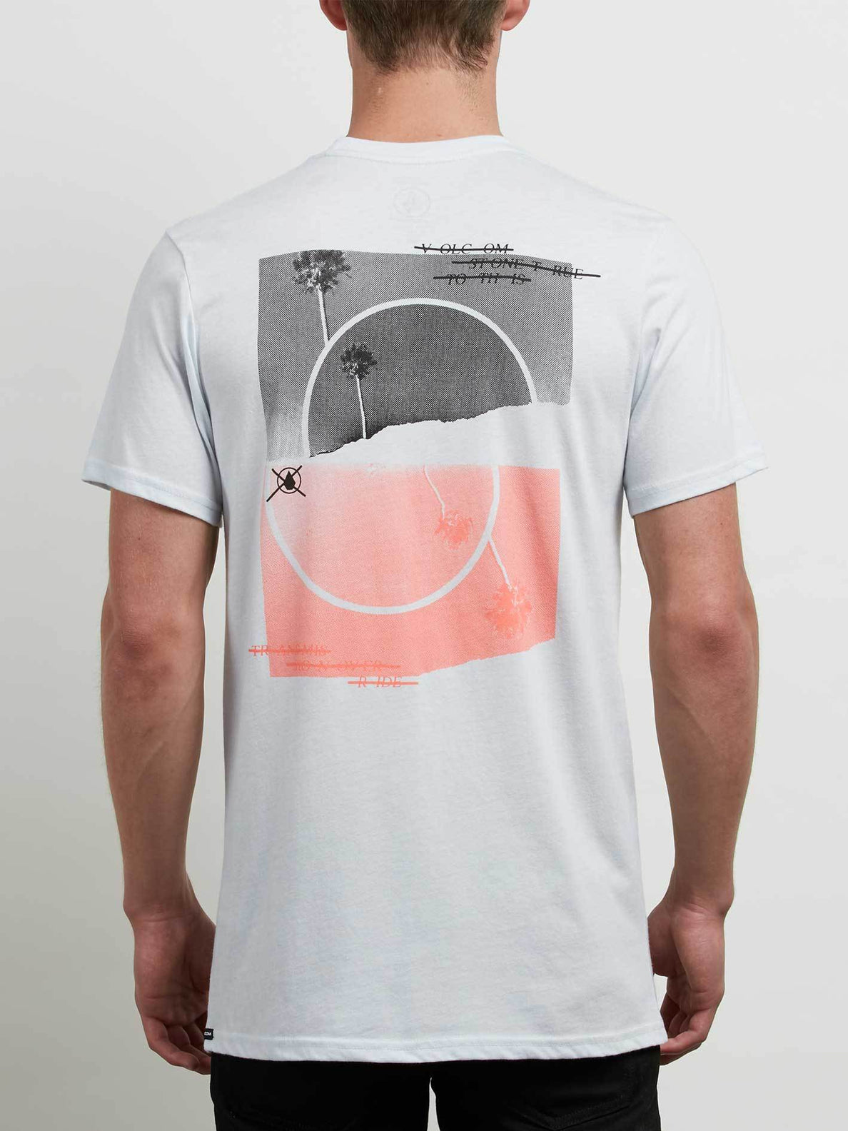 Over Ride Tee In White, Back View