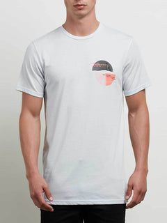 Over Ride Tee In White, Front View