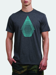 Digital Stone Tee In Heather Black, Front View