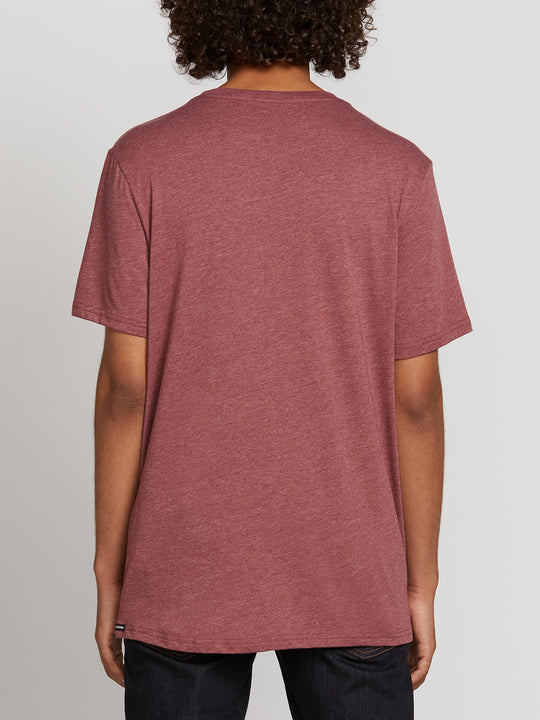 Pin Stone Short Sleeve Tee In Crimson, Back View