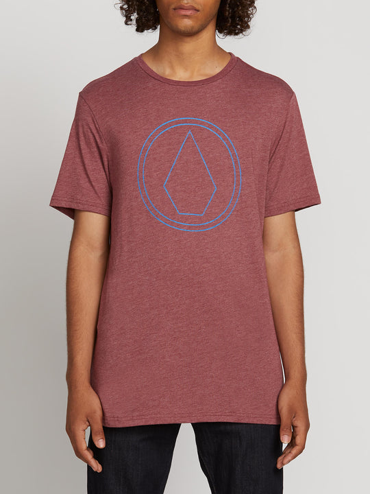 Pin Stone Short Sleeve Tee In Crimson, Front View