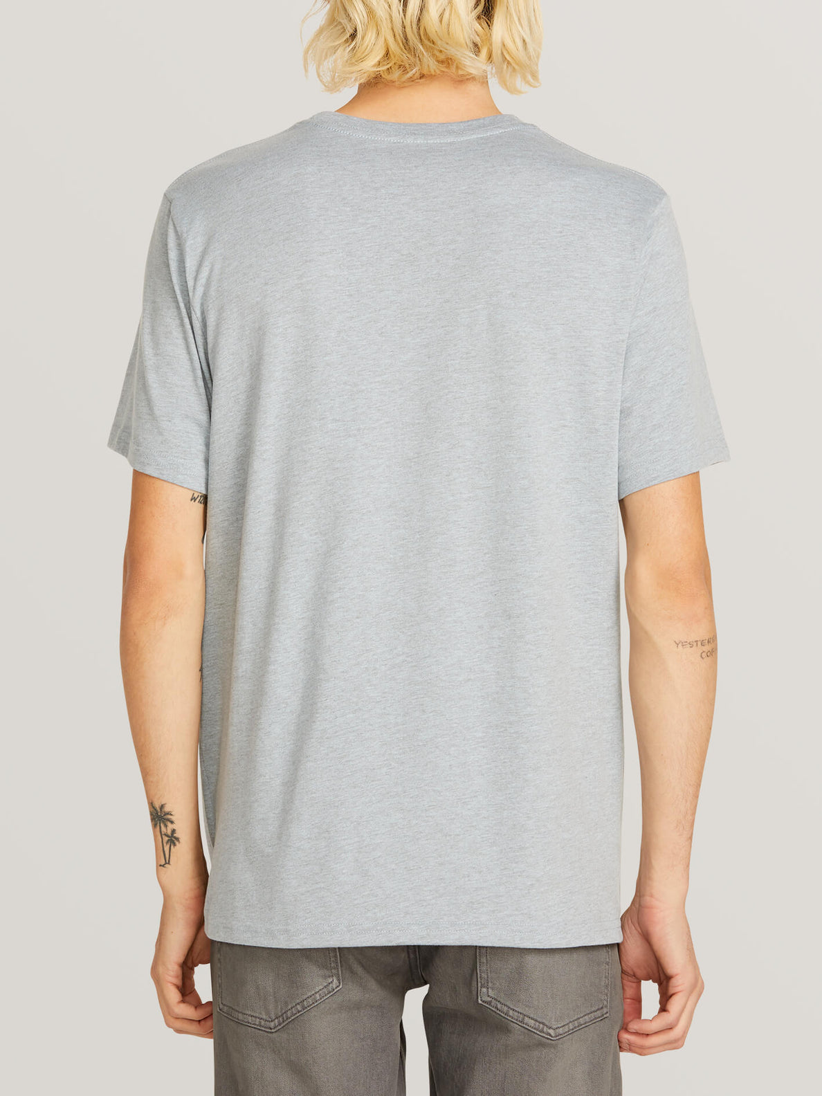 Chop Around Short Sleeve Tee In Arctic Blue, Back View