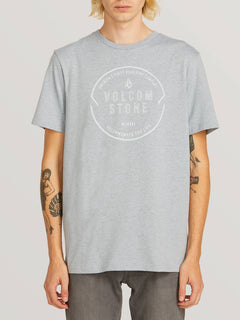Chop Around Short Sleeve Tee In Arctic Blue, Front View