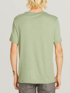 Chop Around Short Sleeve Tee In Dusty Green, Back View