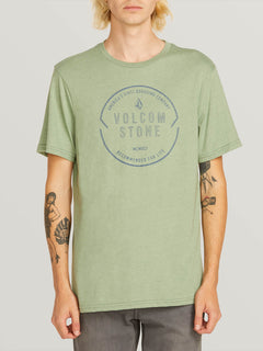 Chop Around Short Sleeve Tee In Dusty Green, Front View