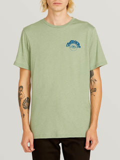 Sunshine Eye Short Sleeve Tee In Dusty Green, Front View