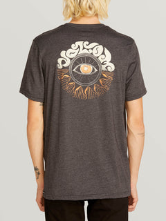 Sunshine Eye Short Sleeve Tee In Heather Black, Back View