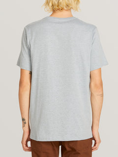3 Quarter Short Sleeve Pocket Tee In Arctic Blue, Back View