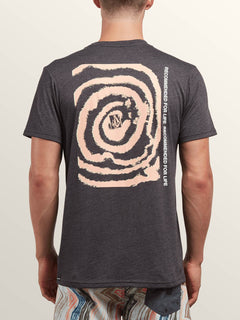 Maag Short Sleeve Tee In Heather Black, Back View