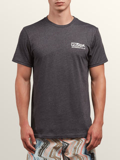Maag Short Sleeve Tee In Heather Black, Front View