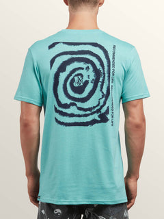 Maag Short Sleeve Tee In Turquoise, Back View