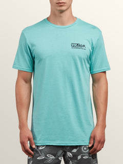 Maag Short Sleeve Tee In Turquoise, Front View