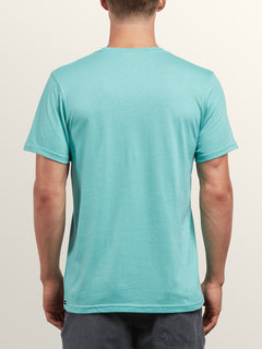 Statiq Short Sleeve Tee In Turquoise, Back View