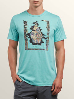 Statiq Short Sleeve Tee In Turquoise, Front View