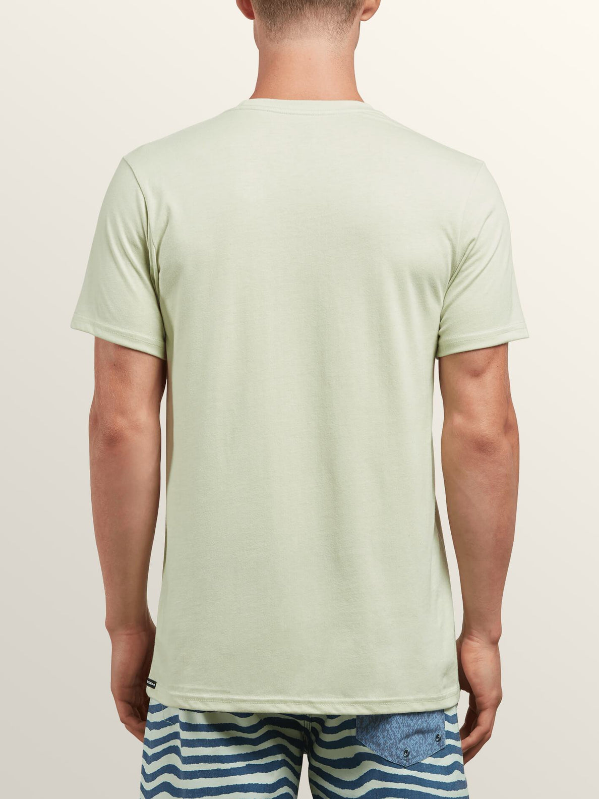 Bold Short Sleeve Tee In Mist Green, Back View