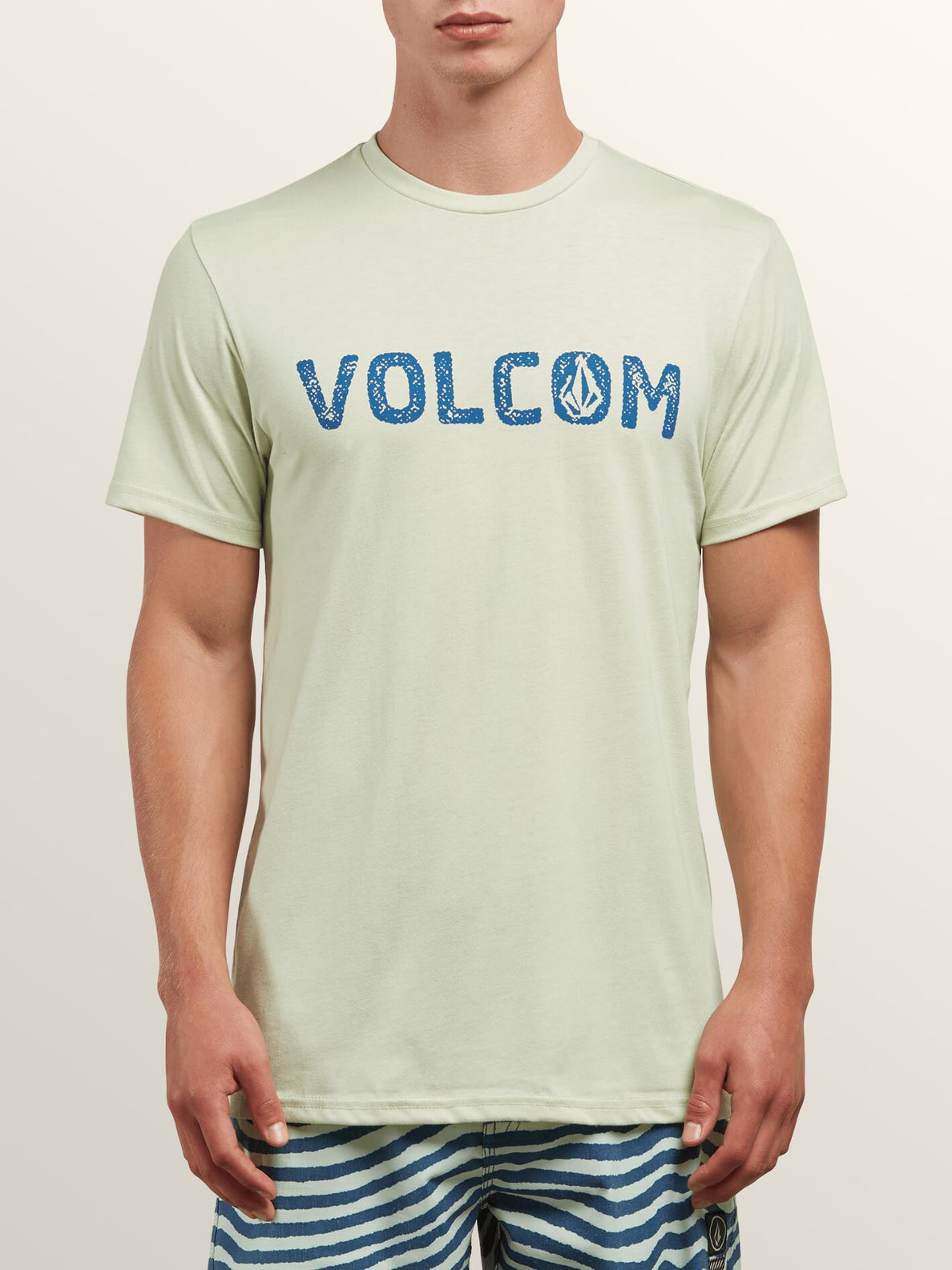 Bold Short Sleeve Tee In Mist Green, Front View