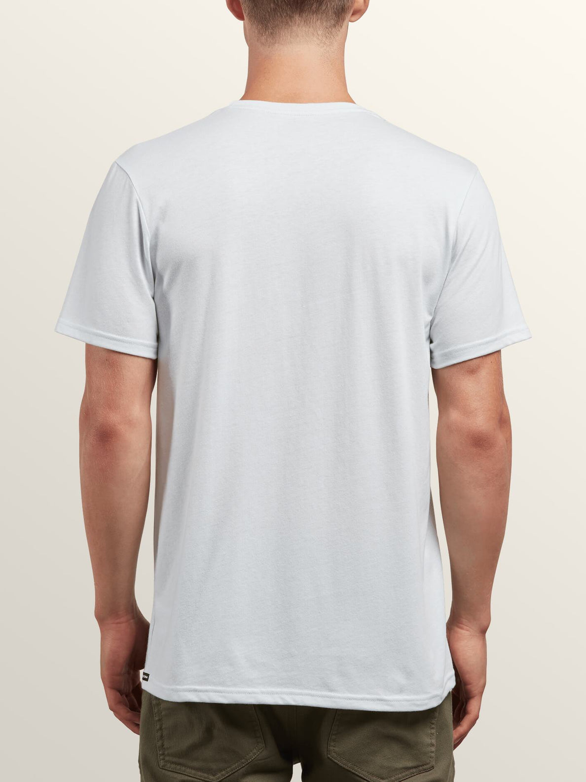 Bold Short Sleeve Tee In White, Back View