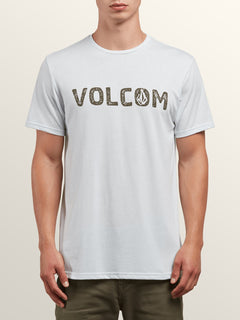 Bold Short Sleeve Tee In White, Front View