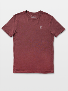 Simple Crew Short Sleeve Heather Tee - Burgundy